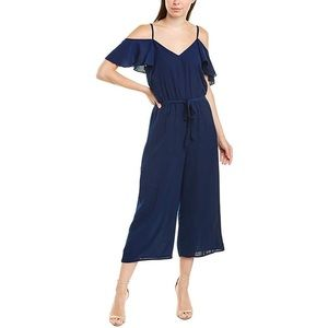 NWT Bailey Blue womens navy cold shoulder jumpsuit